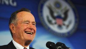 Former US president George H. W. Bush in