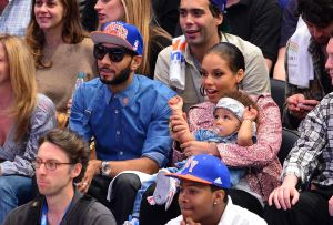 Celebrities Attend The Miami Heat Vs New York Knicks Playoff Game - May 6, 2012