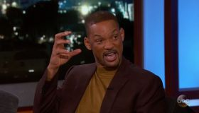 Will Smith during an appearance on ABC's Jimmy Kimmel Live!'