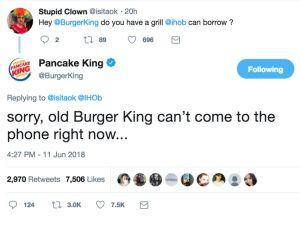BURGER KING CHANGES NAME TO PANCAKE KING