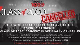 CLASS OF 2020 CANCELLED HIP HOP 1039