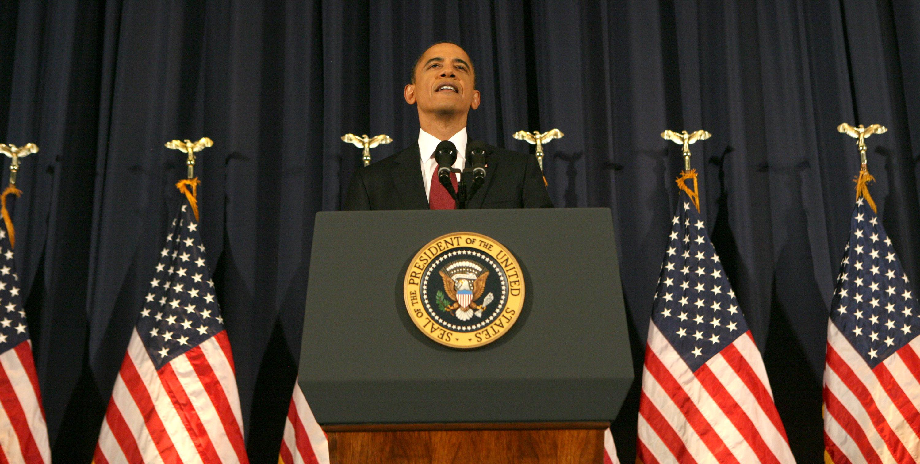 President Obama Addresses U.S. Involvement In Libya