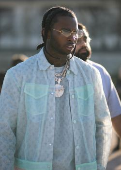 Pop Smoke At Paris Fashion Week