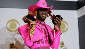 Lil Nas X Celebrates Grammy Win
