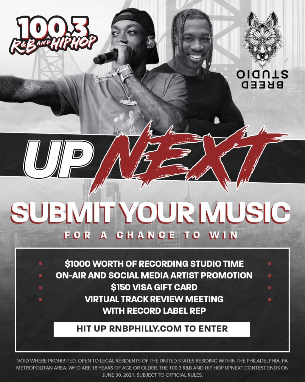 Up Next 100.3 Rnb & Hip Hop Philly June 8
