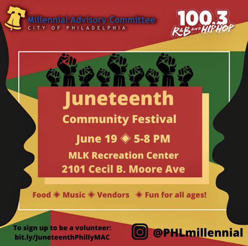 Juneteenth Community Festival June 19th MLK Center