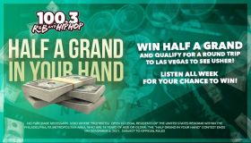 half a grand in your had 100.3 rnb philly